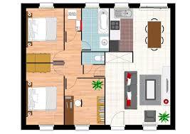 plan plain pied 2 chambres plan maison plain pied 2 chambres sans garage