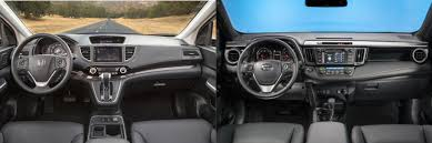 honda crv 2016 interior head to head 2016 honda cr v vs 2016 toyota rav4 autonation
