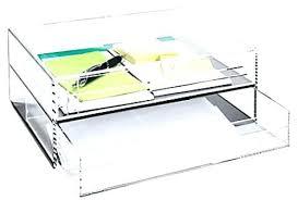 Acrylic Desk Organizers Desk Organizer Tray Smoke Grey Size 2 Drawer Acrylic Line Etched