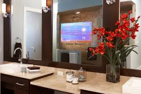 television over mirror bathroom mirros built in with tv for silver