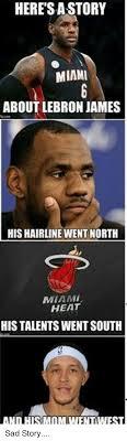 Lebron James Hairline Meme - heresa story miami about lebron james his hairline went north miami