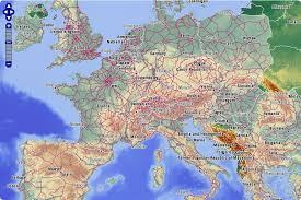 rail europe map rail europe