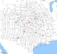 Cold Front Map Surface Maps For Woodward Tornado