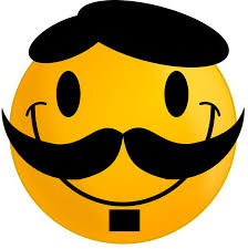 Smiley Face Meme - smiley moustache happy free vector graphic on pixabay