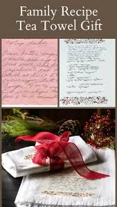 handwritten family recipe tea towel gift towels teas and learning