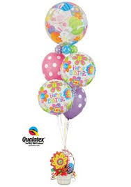 same day birthday balloon delivery let s take it to the party zone small balloon bouquet arrangement