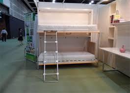 horizotal hidden murphy wall bed double deckers single foldable
