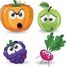 cartoon vegetables and fruits u2014 stock vector virinaflora 33001963