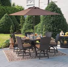 7 Pc Patio Dining Set - outdoor furniture patio dining set wicker rattan 7pc balcony