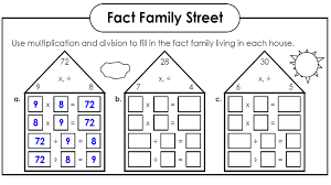Free Math Facts Worksheets Family Facts Math Worksheets Activity Shelter