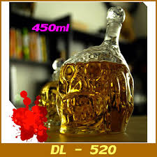 the walking dead zombie glass decanter crystal skull head vodka
