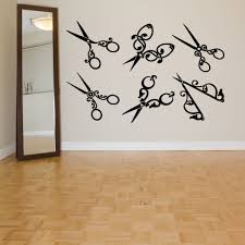 wall room decor art vinyl decal sticker beauty hair salon tools