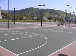comfortable home backyard basketball court half court basketball