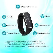 heart rate bracelet iphone images L18 smart bracelet blood pressure heart rate fatigue state ip54 jpg
