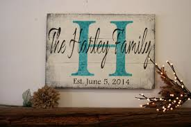 wedding gift name sign personalized name sign custom name sign initial sign wood