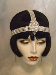 flapper headband 1920s bridal headpiece flapper headband by elisevictoriadesigns