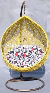 Knotted Hammock Chair Furniture Yellow Swingasan Chair Plus Multicolor Cushion Ideas