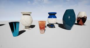 decorative flower decorative flower vase set by 3x3pixel in props ue4 marketplace