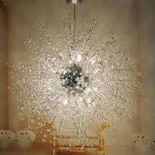 Non Hardwired Chandelier Modern Dandelion Led Chandelier Fireworks Pendant L Ceiling