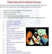 Winter weather preparedness be prepared take action