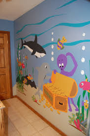 Murals For Childrens Bedrooms Sea Treasures Wall Mural Wall Murals Underwater And Walls