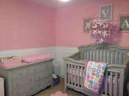 Pottery Barn Kids Addison Rug by Baby Nursery Pink And Gray Like The Chair Rail With Pink Above