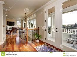 entrance hallway with glass door stock photo image 47580333