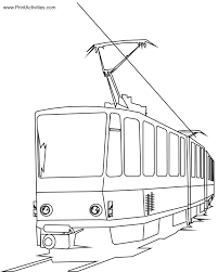 coloring page train car electric train coloring page cartoon passenger car cat