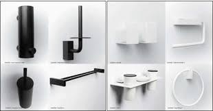 Black Bathroom Accessories by Minosa Bathroom Accessories Quadra Black To White