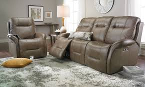 Power Leather Recliner Sofa Leather Reclining Sofa With Power Headrests Haynes Furniture