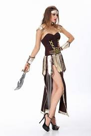 cool ancient dress roman and greek female warrior halloween