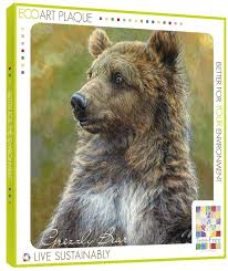 bear themed home decor tree free greetings 85919 29cm x 29cm grizzly bear themed wildlife