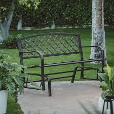 Lifetime Glider Bench Lifetime Products Wood Grain Outdoor Glider Loveseat Hayneedle
