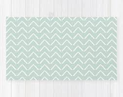 Mint Green Area Rugs Mint Green Rug Etsy