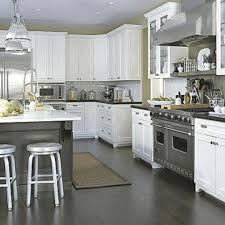 dark floors light cabinets kitchen black ceramic kitchen