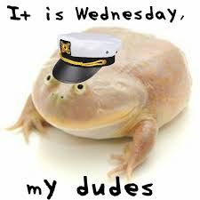 Wednesday Funny Meme - it is wednesday my dudes know your meme