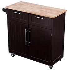 kitchen cart island amazon com giantex rolling kitchen cart on wheels cabinet storage