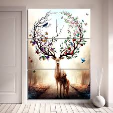 wall ideas gold deer antlers wall decor faux deer antler wall