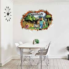 Minecraft Bedroom Decals by 3d Minecraft Wall Stickers Wall Decals Wall Stickers For Kids