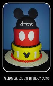 mickey mouse 1st birthday cake i was asked to do a mick u2026 flickr