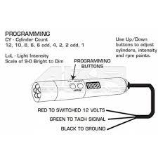 msd programmable digital shift light msd shift light digital programmable msd 8963 for honda akr