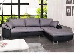 canapé d angle noir et gris canapé d angle en tissu et simili allegri ii gris et noir