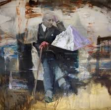 joshua flint assemblages of found imagery and gestural marks in