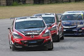 Thailand Round Flag Mz Racing Mazda Motorsport The Mazda 2s Fight Tough Battle At
