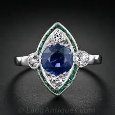 sapphire emerald rings images Art deco sapphire diamond emerald ring jpg