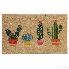 zerbino di cocco zerbino con cactus in fibra naturale di cocco b01mzecccb