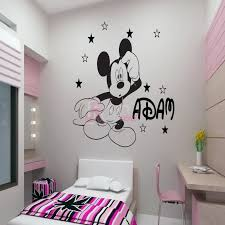 decorating white painting with mickey wall art design excerpt