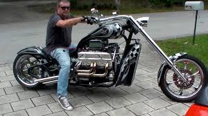 motorcycle with corvette engine v8 chopper 425hp v8 corvette 5 7l turn up the volume