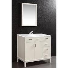Wyndenhall Oxford Oxford White 2 Door 36 Inch Bath Vanity Set With