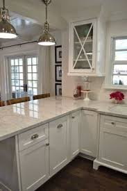 White Kitchen Cabinets Ideas For Countertops And Backsplash by This Is It White Cabinets Subway Tile Quartz Countertops